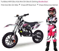mini motocross racing funbikes mxr 50cc 61cm pink kids mini dirt bike clothing helmet
