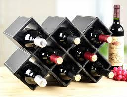 red wine rack cube stack wine bottle stemware rack set walnut