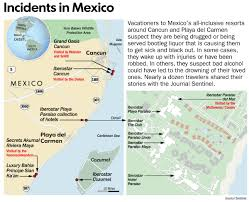 Mexico Map 1800 All Inclusive Resorts In Mexico Suspected Of Drugging Tourists