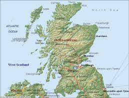map of scotland and map regional political