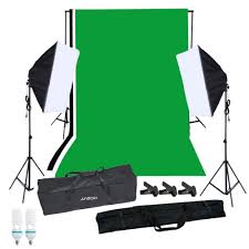 Photography Lighting Kit Andoer Photography Softbox Lighting Kit With Studio