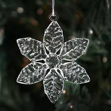clear glass snowflakes 6 different styles ornaments