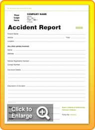 accident book template