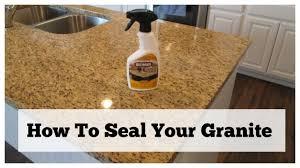 Grainte How To Seal Your Granite Granite Countertop Care Youtube