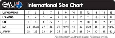 ugg boots australia emu emu australia sheepskin boots size chart