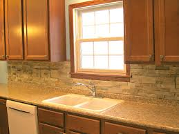 backsplashes creame granite countertop stone tile backsplash