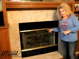 fireplace brass trim can be painted to get an instant living room
