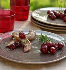 cuisine cerise aiguillettes de canard mariné à la cerise et au vinaigre