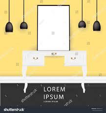 vector realistic mock interior design illustration stock vector