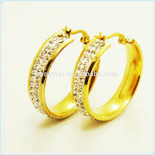 wholesale gold rings images Wholesale white gems designs gold earring rings for sale jpg