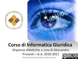 dispense informatica corso di informatica giuridica