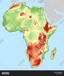 africa map elevation topography map africa dem dtm image photo bigstock