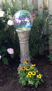 Gazing Ball And Stand 127 Best Gazing Balls Images On Pinterest Garden Art Garden