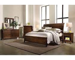 sleigh bedroom set queen aspenhome bedroom set w sleigh bed walnut park asi05 400set