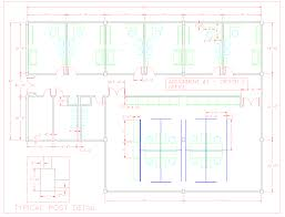 shop and building extension office building floor plan autocad dwg