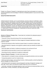 Resume Examples For Physical Therapist by Resumedoc Page 2 Of 71 Free Resume Examples Templates