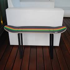 rasta skateboard coat rack comes with four hooks to hang your next