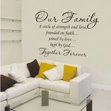 together forever family wall decals strength faith lettering