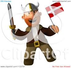 clipart 3d viking holding a sword and norway flag 1 royalty free