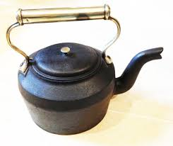 victorian cast iron u0026 brass kettle in inglenook u0026 fireplace