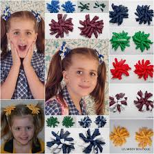 school hair accessories 2x korker school sport colours lil boutique