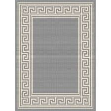 Large Indoor Outdoor Rugs 8 X 10 Large Key Gray Indoor Outdoor Rug Garden City Rc
