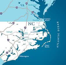Map Of Outer Banks Nc North Carolina Coastal Town Scotch Hall