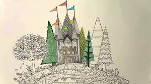 enchanted forest coloring book mushroom castle youtube