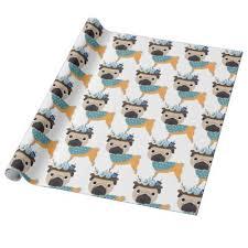 pug wrapping paper hanukkah wrapping paper hanukkah squares zazzle