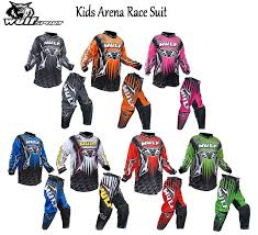 child motocross gear wulf kids arena race suit new style 2016 motocross quad atv mx