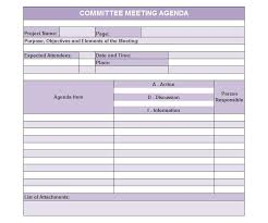 committee report template meeting agenda template