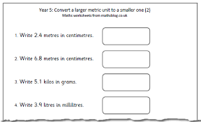 maths worksheet converting metric units 2 maths blog
