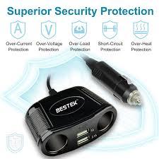 2012 Jetta Cigarette Lighter Fuse Location Amazon Com Bestek 150w 2 Socket Cigarette Lighter Power Adapter