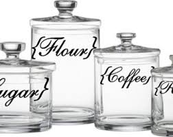 kitchen canisters flour sugar kitchen canister labels flour sugar coffee rice vinyl decal set