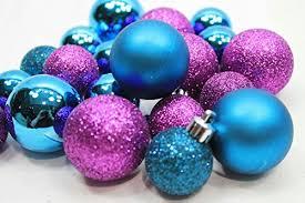 colorful glitter ornaments