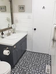 Sealing A Bathroom Floor Diy Stencilled Bathroom Floor U2014 The Penny Drawer