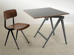 Drafting Table Industrial Reply Drafting Table And Chair Wim Rietveld Furniture