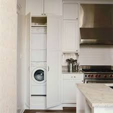 laundry in kitchen ideas kitchens with a laundry area washer dryer and refrigerator