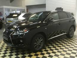 lexus rx black used lexus rx 450h 3 5 f sport 5dr cvt auto 1 owner for sale in