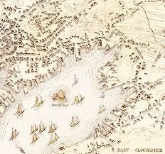 Birds Eye View Maps Gloucester Ma In 1873 Bird U0027s Eye View Map Aerial Panorama
