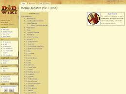 Darude Sandstorm Meme - meme master 5e class d d wiki