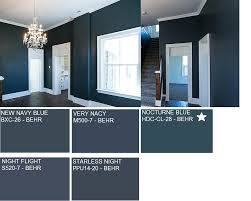 hallway paint color nocturne blue hdc cl 28 behr kitchen
