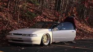 subaru xt stance the world u0027s first bagged svx youtube