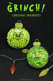 two diy grinch christmas ornaments an easy tutorial grinch