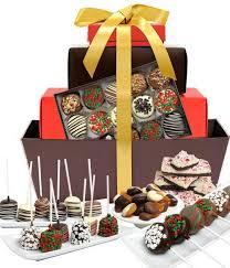 gourmet gift basket chocolate covered company deluxe belgian chocolate gift