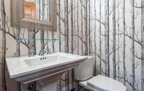 bathroom wallpaper designs bathroom powder room ideas with wallpaper designs simple
