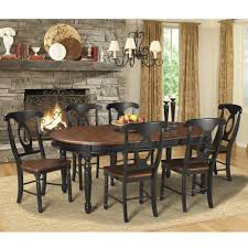 American Woodcrafters British Isles Wood Oval Dining Table In Oak Black Humble Abode