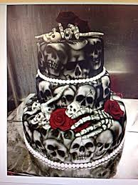 Halloween Wedding Cake by Skull Wedding Cake Skull Pinterest Skull Wedding Cakes