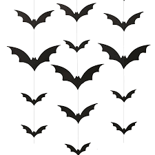 black spooky halloween party bat wall backdrop by ginger ray