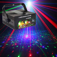 sound activated dj lights red green blue stage light projector disco party music dance led
